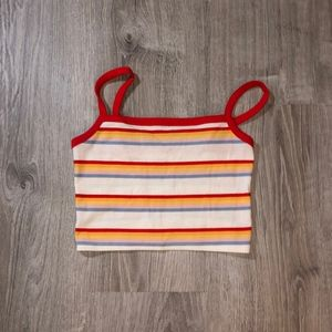 Striped Pacsun Crop Top